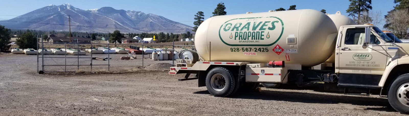 Propane Delivery Truck in Flagstaff